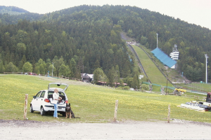 Grażyna Dominiak Zakopane Krupówki Wielka Krokiew im. Stanisława Marusarza – skocznia narciarska 2003 - DOMINIAK AH
