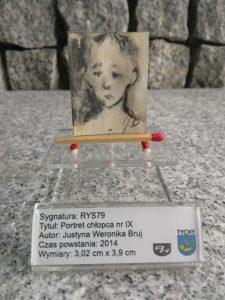 Wakacje 2017 Muzeum miniatura sztuka / Portret chłopca nr IX / DOMINIAK AH