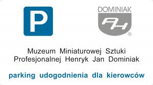 Wizytówka Muzeum parking udogodnienia dla kierowców