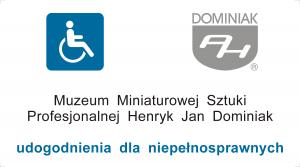 Wizytówka Muzeum udogodnienia dla niepełnosprawnych