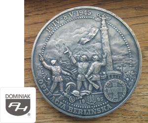 MMSPHJD FAL68 – OPERACJA BERLIŃSKA 16 IV – 8 V 1945 ZA UDZIAŁ W WALKACH O BERLIN 1995 TWO znak MW (awers) - Henryk Jan Dominiak