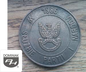 MMSPHJD FAL70 – W SŁUŻBIE PARTII I NARODU 1986 (awers) - Henryk Jan Dominiak