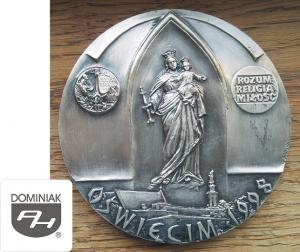 MMSPHJD FAL72 – OŚWIĘCIM 1998 DA MIHI ANIMAS COETERA TOLLE ROZUM RELIGIA MIŁOŚĆ (awers) - Henryk Jan Dominiak