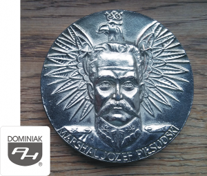 MARSHAL JÓZEF PIŁSUDSKI MMSPHJD FAL119 – MARSHAL JÓZEF PIŁSUDSKI - KAWECKI (awers) - Henryk Jan Dominiak
