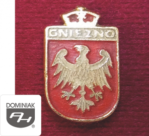 MMSPHJD HER59 - HERB – GNIEZNO (awers) HERALDYKA MUZEUM - Henryk Jan Dominiak