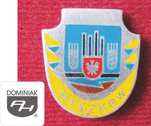 MMSPHJD HER40 – HERB MIASTA MYSZKÓW (awers) HERALDYKA MUZEUM - Henryk Jan Dominiak